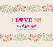 Love is all you need. mother's day Stock Images