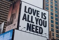 Love Is All You Need Signage Stock Images