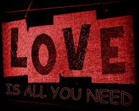 Love Is All YOU Need Valentine Greeting royalty free stock image