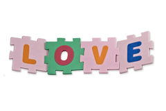 Love Alphabet Stock Image