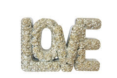 Love alphabet. On white background Royalty Free Stock Images