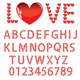 Love the alphabet with a heart Stock Photos