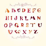 Love the alphabet with a heart letters. Alphabet design in a colorful style Stock Photo