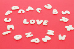 Love alphabet Stock Photo