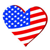 Love for America Royalty Free Stock Photography