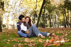 Free Love And Affection Between A Young Couple Royalty Free Stock Photos - 16976058