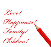 Love And Pencil Stock Image