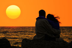 Love And Sea Stock Photography