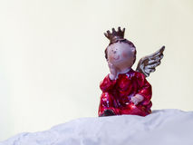 Love Angel with Crown and Wings Stock Images