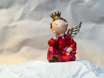 Love Angel with Crown and Wings Stock Photo