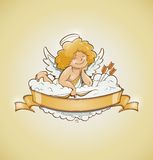 Love angel cupid for valentines day Stock Photography