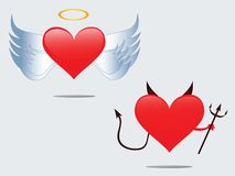 Love angel and Devil Royalty Free Stock Photos