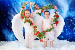 Love angels Stock Images