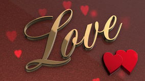 Love animated background stock footage