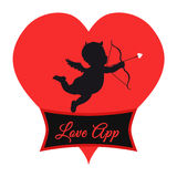 Love app Logo Royalty Free Stock Photography