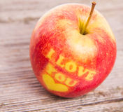 A love apple Stock Photo