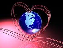 Love around globe Stock Image