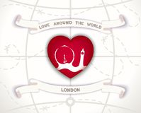 Love around the world Royalty Free Stock Photos