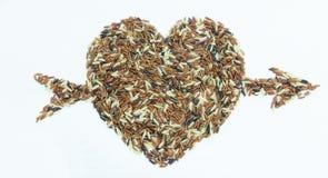 Love Arrow pierced. Seed Berry  Heart Royalty Free Stock Photos