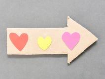 Love arrow Stock Image