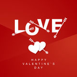 Love arrows logotype red background Stock Photos
