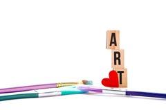 Love Art - blocks and brushes royalty free stock image