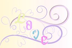 Love art sweet design and text Stock Image