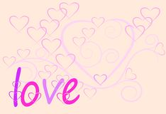 Love art sweet design and text Royalty Free Stock Photography