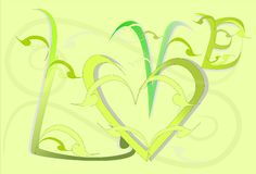 Love art sweet design and text Stock Photos