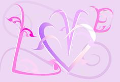 Love art sweet design and text Stock Photography