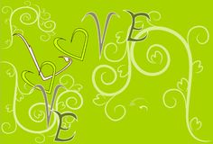 Love art sweet design and text Royalty Free Stock Photo