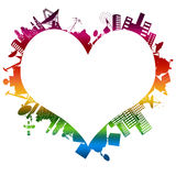 Love At First Byte: My Rainbow Royalty Free Stock Photo