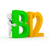 Love b12. 3d children with number b12 Royalty Free Stock Images