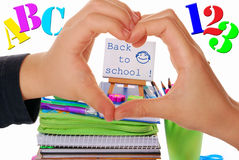We love back to school Stock Image