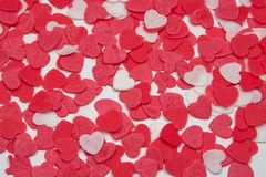 Love background. Background of pink and white textured heart shapes Royalty Free Stock Photo