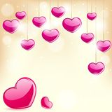 Love Background. Easy to edit vector illustration of love background with glossy heart vector illustration