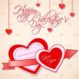 Love Background. Easy to edit vector illustration of love background with glossy heart stock illustration