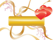 Love Background. Vector image of love pattern on white background Royalty Free Stock Photography