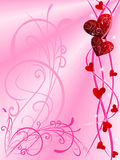 Love background. With abstract motif, flower and cute love, vector illustration Royalty Free Stock Image