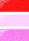 Love background. Valentine´s background, hearts, flowers and butterflies background Royalty Free Stock Photos