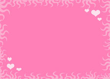 Love background. Valentine´s background, hearts and flowers  background Royalty Free Stock Photography