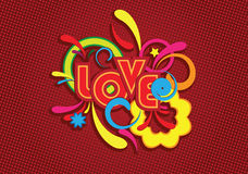 LOVE Background. Word love. Vector. Without gradient mesh vector illustration