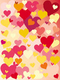 Love background. Vector illustration of valentines background with hearts Stock Photo