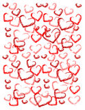 Love background abstract. Abstract love illustration:  hearts background Stock Photos