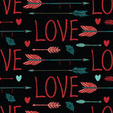Love background with arrows and hearts Royalty Free Stock Images