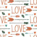 Love background with arrows Stock Photos