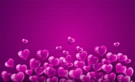 Love background banner with hearts Royalty Free Stock Photo