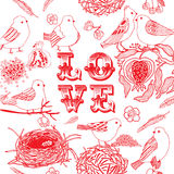 Love background with birds Royalty Free Stock Images