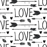 Love background with black arrows Stock Images