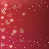 Love background with bokeh heart Stock Images